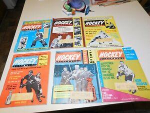 LOT OF 6  1969s NHL Hockey Pictorial Magazine Bobby ORR