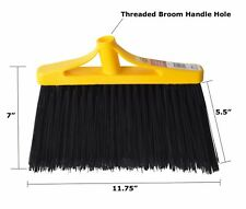 Lobby Angle Broom Head Replacement Commercial Flagged Poly Bristles Large