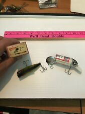GROUP LOT OF 2 HEDDON CHUGGER SPOOK IN BOX BIG BUD VINTAGE FISHING LURE LURES