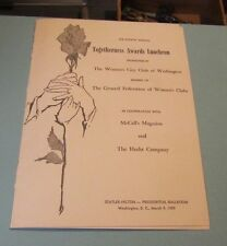 1959 Women's Club of Washington Togetherness Awards Luncheon Program Donna Reed