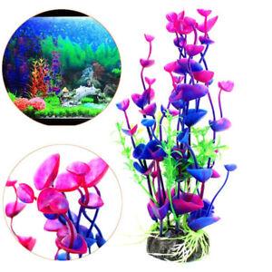 Water Tank Simulation Fake Purple Blue Water Plant Fish Tank Aquarium Good
