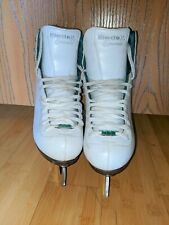 Riedell Model 119 Emerald with Luna Blades Womens Figure Skates Size 6M