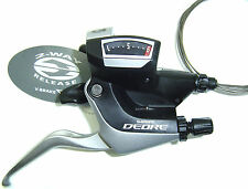 Shimano Deore Schalt-Brems-Hebel ST-M590 9-fach schwarz silber  NEU