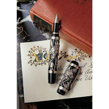 Artistic Bas-Relief Fiery Pewter Dragons Rollerball Diary Journal Writing Pen