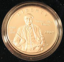 2004 Thomas Alva Edison Commemorative Silver Dollar Proof Coin