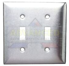 NEW Matte Stainless Steel Electric Wall Plate, Double Toggle Elegant & Durable