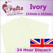 100 Ivoire C6 Carte de vœux enveloppes 114 x 162mm