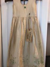 New ListingPrimitive Dress Decor Vintage Embroidered Pillowcase Flower Tag Ooak
