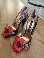 Dolce And gabanna Embroidered Heeled Courts Size 4 Brand New