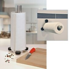 Küchenrollen-Halter Küchenrollenhalter mit Saugnäpfen am Fuß für stabilen Halt