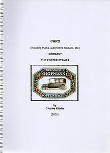 (I.B-CK) Cinderella Catalogue : Poster Stamps : German Cars (including Trucks)