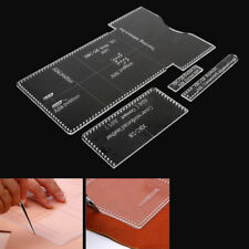 1Set Acrylic Clear Template Pattern Tool For Wallet Messager Bag Leather CraBH1