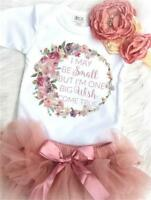 US Newborn Kids Baby Girl Outfits Clothes Tops Romper Bodysuit+Tutu Dress Sets