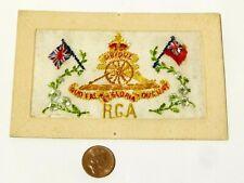 More details for ww1 rga royal garrison artillery badge french embroidered silk postcard #sp18