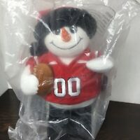Kohls Snowman Plush Utah Utes Football Forever Collectibles Christmas New PAC-12