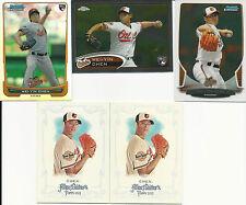 2012 12 Topps Bowman Wei-Yin Chen RC Baltimore Orioles Lot Taiwan Miami Marlins