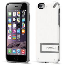 "PureGear iPhone 6 (4.7"") Slim Shell Impact Flexible Silicone W/ Kickstand White"