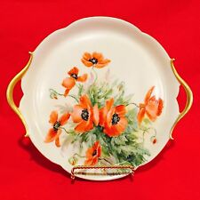Gorgeous Tresseman & Vogt (T&V) Limoges Hand Painted Tray Platter With Poppies