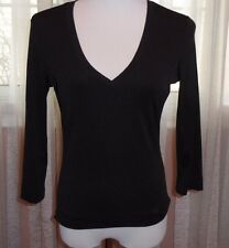 BEBE  V-NECK TOP, LYCRA/SPANDEX PERFECT FOR ALL OCCASIONS, L