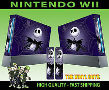 Nintendo Wii Sticker Nightmare Before Christmas Jack Skellington Skin + Pad Skin