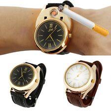 Men Watch USB Cigarette Rechargeable Windproof Flameless Wristwatch Lighter Blac