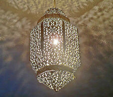 CREAM MOROCCAN CHIC ORNATE CHANDELIER PENDANT LIGHT SHABBY LAMP SHADE LANTERN