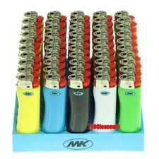 50 Full Dize MK Grip Disposable Cigarette Lighters, All Purpose, BIC, Fast Ship