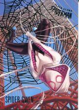 Spiderman Fleer Ultra 2017 Silver Parallel Base Card #75 Spider-Gwen