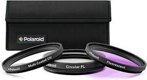 Polaroid Creative Filter Kit, UV + Circ Polariser + FLD Fluorescent - 49mm BNIB