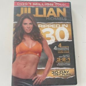 Jillian Michaels Ripped in 30 Exercise DVD 2011 Sealed