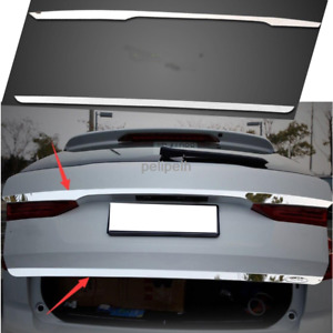 Fit For Volvo XC60 2018-2020 Stainless steel Tail Rear Trunk Lid Cover Trim 2pcs