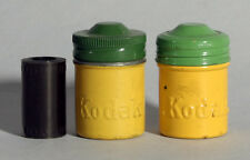 KODAK COLOR METAL FILM CANS SET OF 2  W/ NEGATIVES VINTAGE