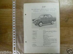 DA3-DAF TYPE 600 STANDAARD, 600 DE LUXE (VANAF SEPTEMBE