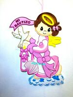 Baptism Favors Banner Girl Mi Bautizo Wall Decoration Pink Baptism Decor LARGE