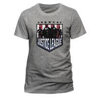OFFICIAL DC COMICS T Shirt Justice League Silhouette Shield Mens M L  NEW