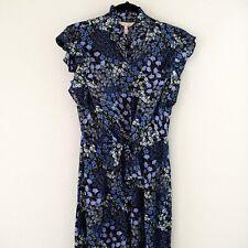 Rebecca Taylor Ava Floral Print Silk Sleeveless Ruffle Jumpsuit Romper Maxi Sz 2