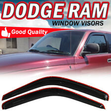 Fit 94-01 Dodge Ram 1500/2500/3500 Coupe In-Channel Window Visor Smoke Deflector