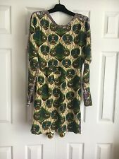 New Designer Marni at H&M Gorgeous Floral Silk Long Sleeve  Dress Multi Size 4