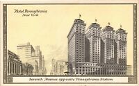 Vintage Postcard - Hotel Pennsylvania Penn Station Un-Posted New York #4420