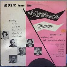 MICHAEL RABIN bell muisc from the telephone hour LP VG+ EB 3019 Vinyl 1955