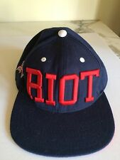 Navy RIOT Red Embroidery Hat Cap
