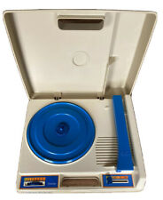 Fisher Price Portable Record Player 1978 Blue Turntable #825 33 45 rpm Vintage