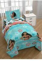 Disney Moana~5pc Twin Bed in a Bag Bedding Set with Bonus Tote & Pillow Buddy