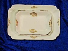 Rare Late 1800's John Maddock & Sons LTD Graduating Serving Trays Set Of 4