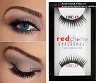 1 Pair GENUINE RED CHERRY 15 Donatella False Eyelashes Human Hair Black Lashes