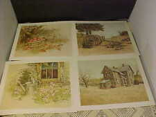 Prints Country By Current Codes 326 to 329 Four Total Artist Dick Dahlquist New