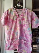 Unisex Small Butterfly Spring Scrub Top
