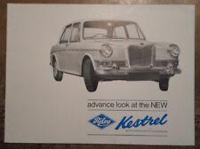 RILEY KESTREL orig 1965 UK Mkt Advance Look Sales Brochure