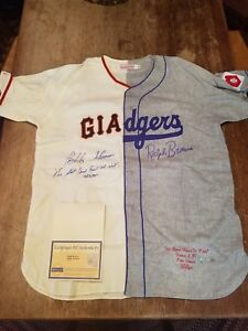 Bobby Thomson Ralph Branca Autographed Mitchell Ness Jersey Steiner Sports RARE