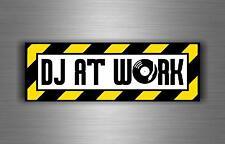 Sticker decal art wall car moto biker DJ headphones music turntable at work